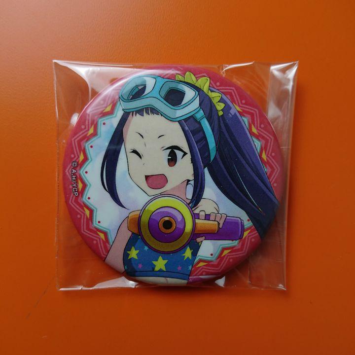 Oogaki Chiaki Summer Camp Ver. Original Illustration Trading Can Badge