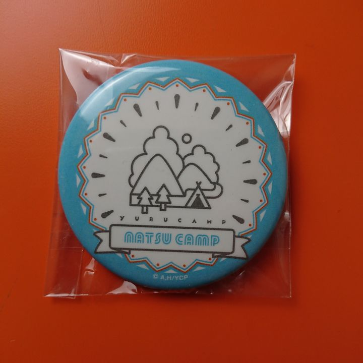 Natsu Camp Original Illustration Trading  Can Badge Summer Camp Ver.
