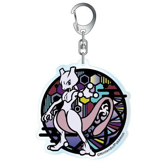 Pokemon Kirie Series Acrylic Key Chain Mewtwo A
