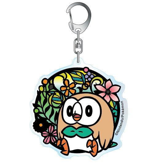 Pokemon Kirie Series Acrylic Key Chain Rowlet A