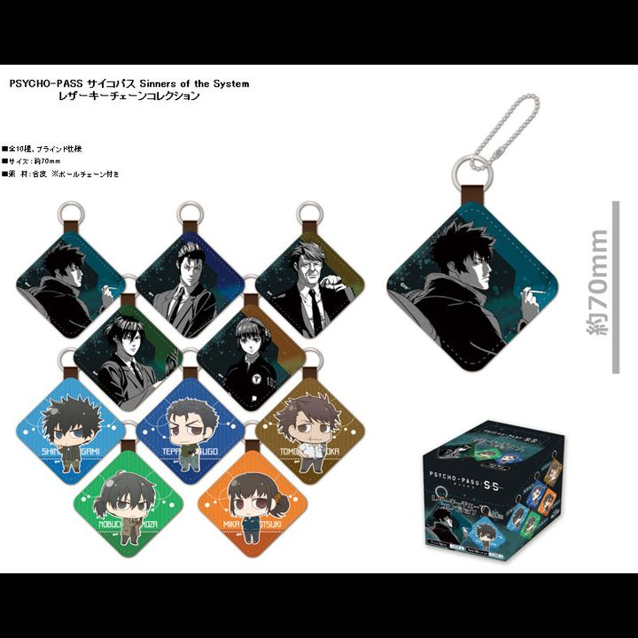 Psycho-Pass Sinners of the System Leather Key Chain Collection [SET OF 10]