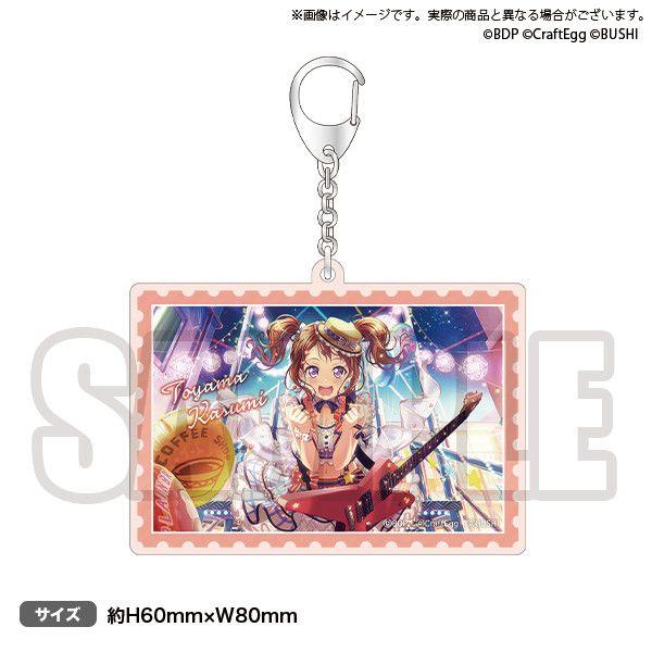 NO GIRL NO CRY Poppin'Party acrylic key chain Toyama Kasumi