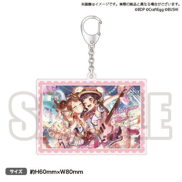 NO GIRL NO CRY Poppin'Party acrylic key chain Rimi Ushigome