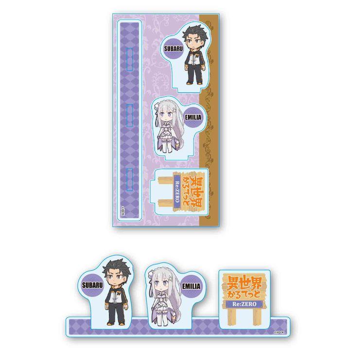 Isekai Quartet Acrylic Figur Subaru & Emilia