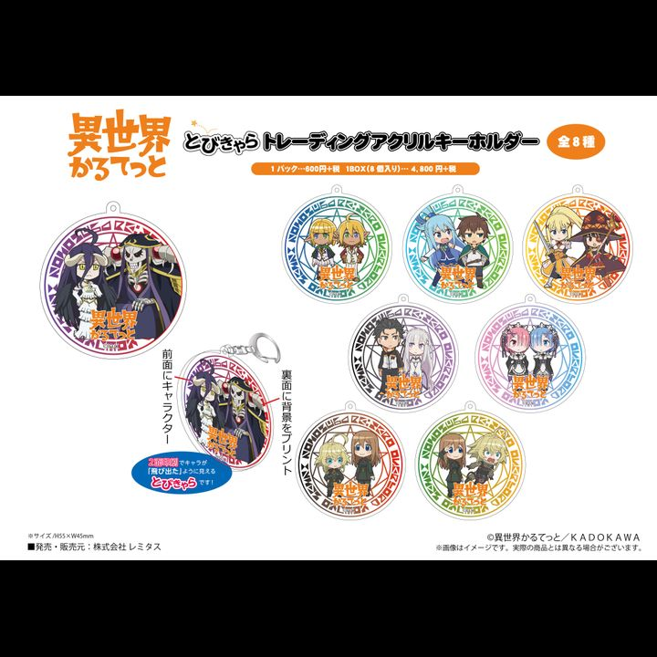 Isekai Quartet Tobichara Trading Acrylic Key Chain [SET OF 8]