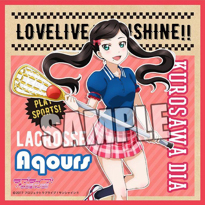 Love Live! Sunshine!! Microfiber Mini Towel Sports Ver. Kurosawa Dia