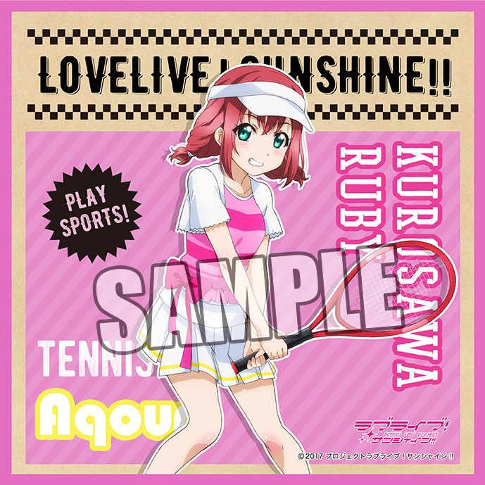 Love Live! Sunshine!! Microfiber Mini Towel Sports Ver. Kurosawa Ruby