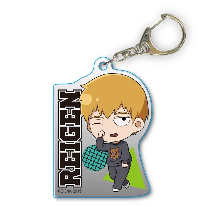 Mob Psycho 100 II TEKUTOKO Acrylic Key Chain Reigen Arataka in Pajamas