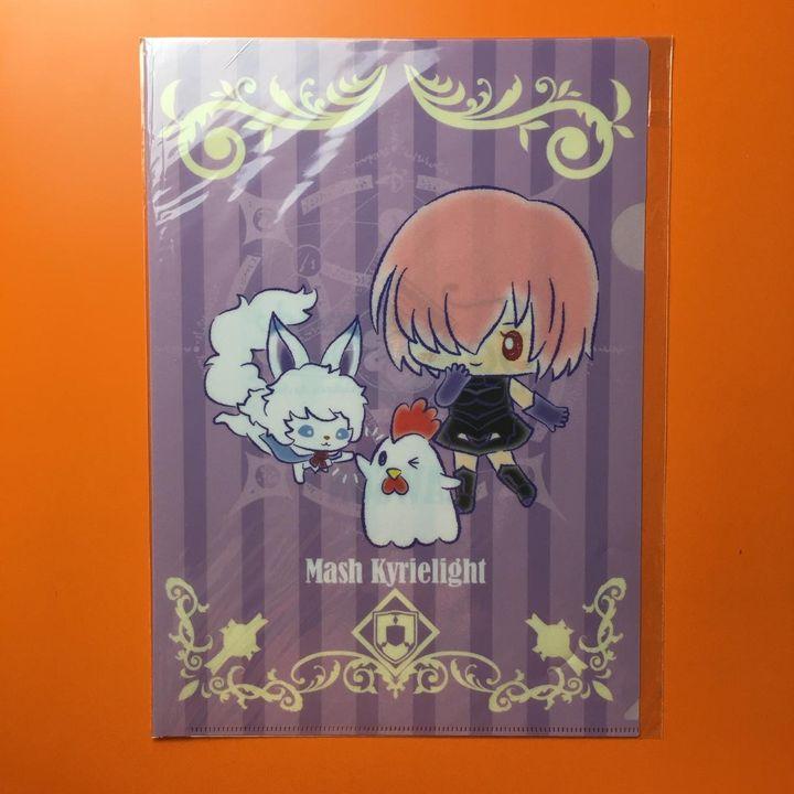 Fate X LAWSON A4 Clear File Mash Kyrielight Design Produced By Sanrio