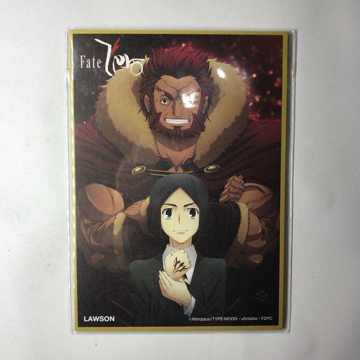 Fate / Zero X LAWSON Mini Shikishi Rider & Velvet Waver