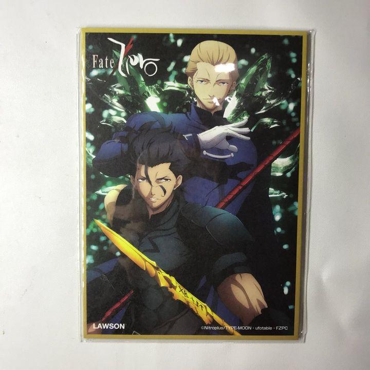 Fate / Zero X LAWSON Mini Shikishi Lancer & Kayneth