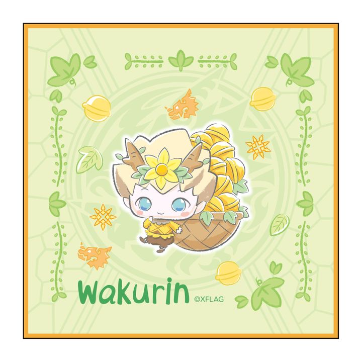 Monster Strike Design produced by Sanrio Hand Towel Wakurin