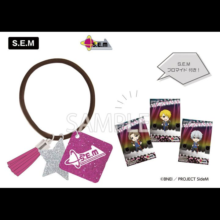 The Idolmaster SideM Rubber Bracelet Eformed Bromide Set S.E.M