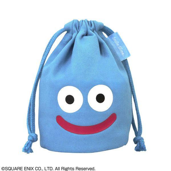 Dragon Quest Smile Slime Mini Kinchaku Blue (15cm)