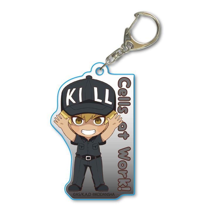 Cells at Work! Banzai Acrylic Key Chain Killer T Cell