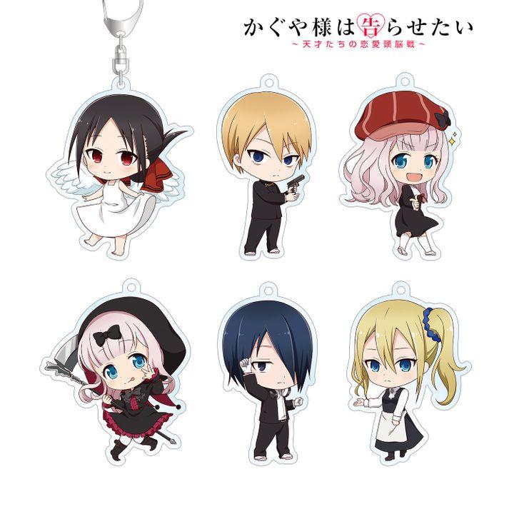 Kaguya-sama: Love is War Trading Chibi Character Acrylic Key Chain [SET OF 6]