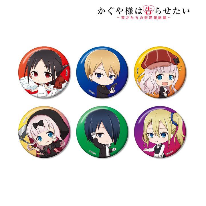 Kaguya-sama: Love is War Trading Chibi Character Can Badge [SET OF 6]
