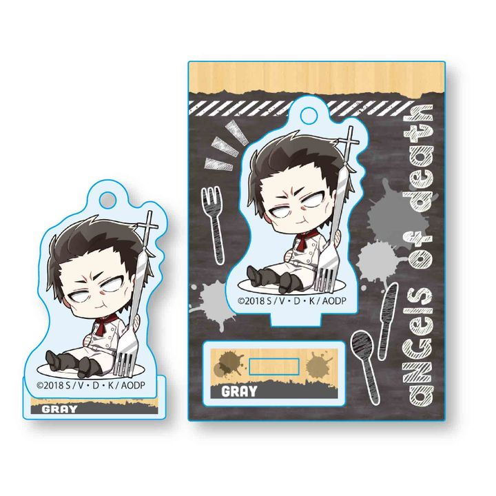 Satsuriku no Tenshi Gochi Chara Mini Stand Gray